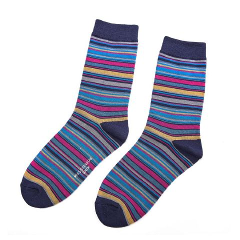 STRIPE SOCK NAVY